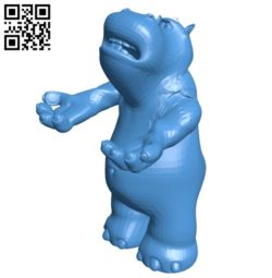 Hippo pen holder B006515 file stl free download 3D Model for CNC and 3d printer