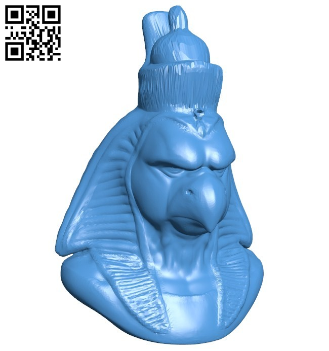 Horus bust B006446 file stl free download 3D Model for CNC and 3d printer