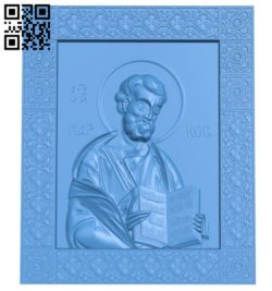 Icon of Mark the Evangelist A004432 download free stl files 3d model for CNC wood carving