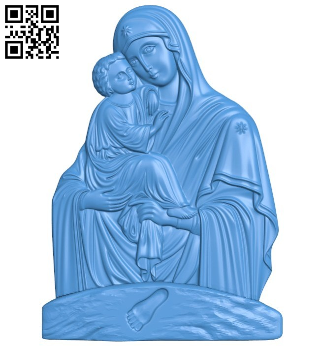 Icon of Pochaev A004434 download free stl files 3d model for CNC wood carving