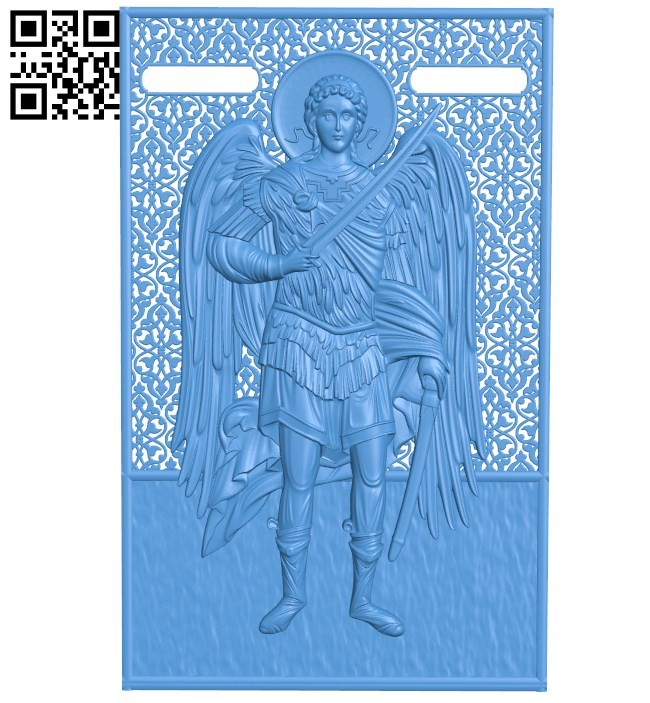 Icon of St. Michael A004433 download free stl files 3d model for CNC wood carving