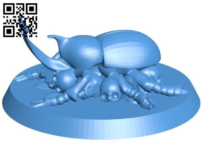 Iridescent Beete Figurine B006451 file stl free download 3D Model for CNC and 3d printer