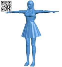 Japan school girl B006384 file stl free download 3D Model for CNC and 3d printer