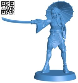 Japanese female assassin B006543 file stl free download 3D Model for CNC and 3d printer