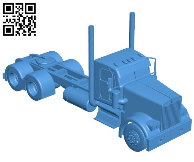 Kenworth W900 truck B006400 file stl free download 3D Model for CNC and 3d printer
