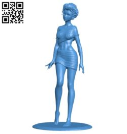 Lady B006347 download free stl files 3d model for 3d printer and CNC carving