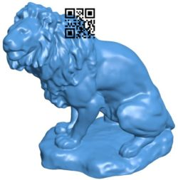 Lion Sculpture B006579 file stl free download 3D Model for CNC and 3d printer