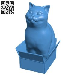Loubie cat in box B006357 file stl free download 3D Model for CNC and 3d printer