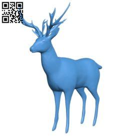 Low poly deer B006369 file stl free download 3D Model for CNC and 3d printer