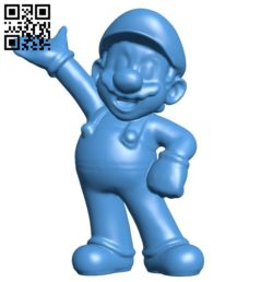 Mario B006341 download free stl files 3d model for 3d printer and CNC carving