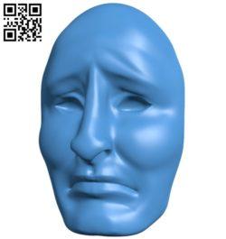Mask men B006405 file stl free download 3D Model for CNC and 3d printer