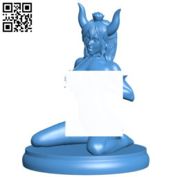 Miss Bowsette B006319 download free stl files 3d model for 3d printer and CNC carving