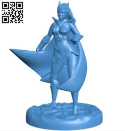 Miss Catra B006324 download free stl files 3d model for 3d printer and CNC carving