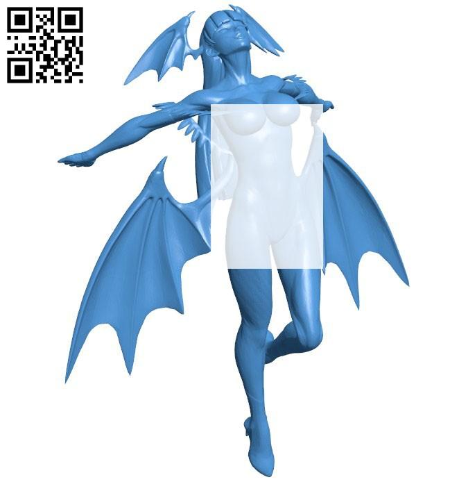 Miss Morrigan Aensland B006540 file stl free download 3D Model for CNC and 3d printer