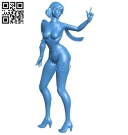 Miss Skye statue B006600 file stl free download 3D Model for CNC and 3d printer
