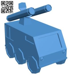 Missile Launcher tank B006367 file stl free download 3D Model for CNC and 3d printer