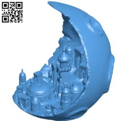 Moon city B006336 download free stl files 3d model for 3d printer and CNC carving