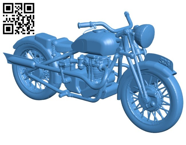 Motorbike 1936 BSA Empire Star B006426 file stl free download 3D Model for CNC and 3d printer