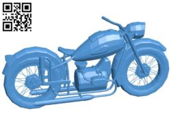 Motorbike B006570 file stl free download 3D Model for CNC and 3d printer