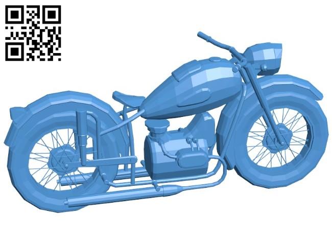 Motorbike B006570 file stl free download 3D Model for CNC and 3d printer