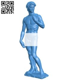 Mr David B006309 download free stl files 3d model for 3d printer and CNC carving