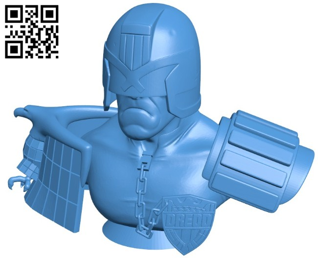 Mr judge dredd B006470 file stl free download 3D Model for CNC and 3d printer