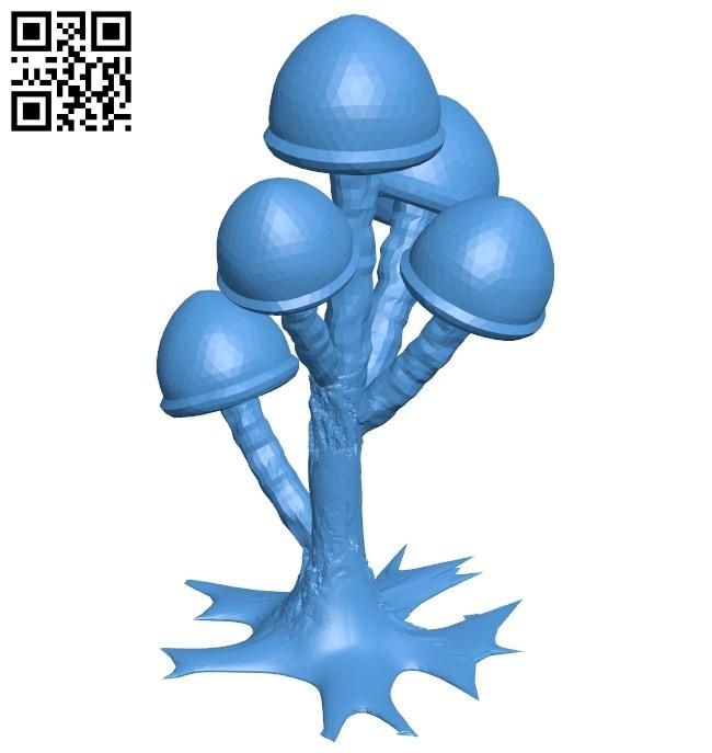 Mushroom tree B006457 file stl free download 3D Model for CNC and 3d printer