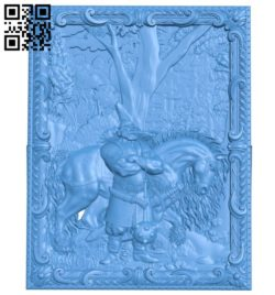 Panel Hero in the fishing line A004460 download free stl files 3d model for CNC wood carving
