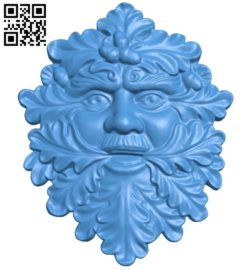Panel Lesovik head A004435 download free stl files 3d model for CNC wood carving