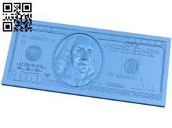Panel one hundred dollars A004461 download free stl files 3d model for CNC wood carving