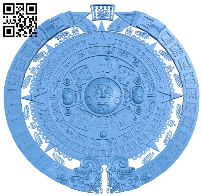 Panels Mayan Calendar A004459 download free stl files 3d model for CNC wood carving