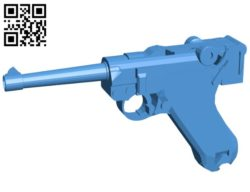 Parabellum gun B006625 file stl free download 3D Model for CNC and 3d printer