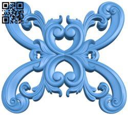 Pattern decor design A004535 download free stl files 3d model for CNC wood carving