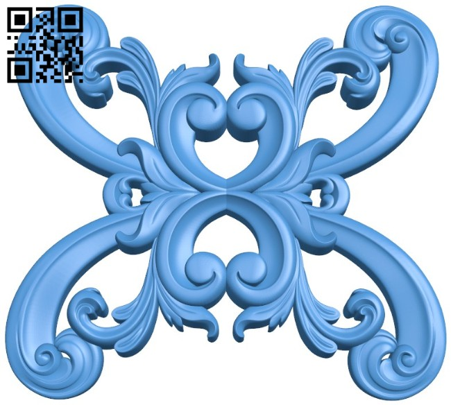 Pattern decor design A004535 download free stl files 3d model for CNC wood carving