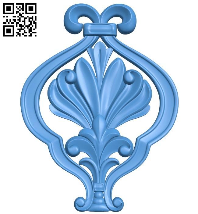 Pattern decor design A004537 download free stl files 3d model for CNC wood carving
