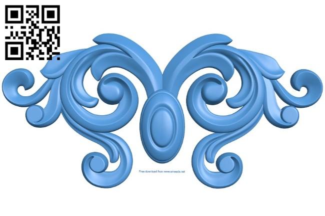 Pattern decor design A004538 download free stl files 3d model for CNC wood carving