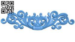 Pattern decor design A004542 download free stl files 3d model for CNC wood carving