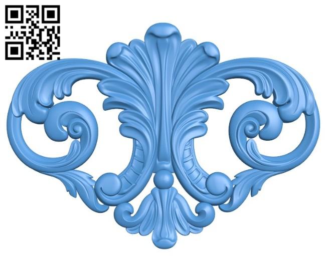 Pattern decor design A004547 download free stl files 3d model for CNC wood carving