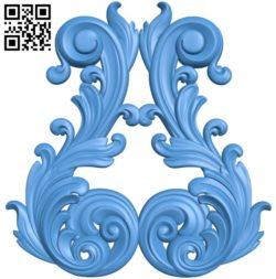 Pattern decor design A004550 download free stl files 3d model for CNC wood carving