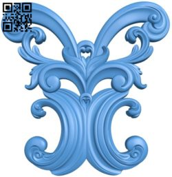 Pattern decor design A004562 download free stl files 3d model for CNC wood carving