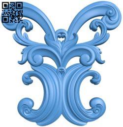 Pattern decor design A004562 download free stl files 3d model for CNC wood carving
