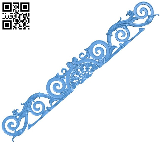 Pattern decor design long A004451 download free stl files 3d model for CNC wood carving