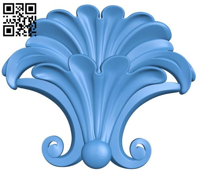 Pattern dekor flower A004429 download free stl files 3d model for CNC wood carving