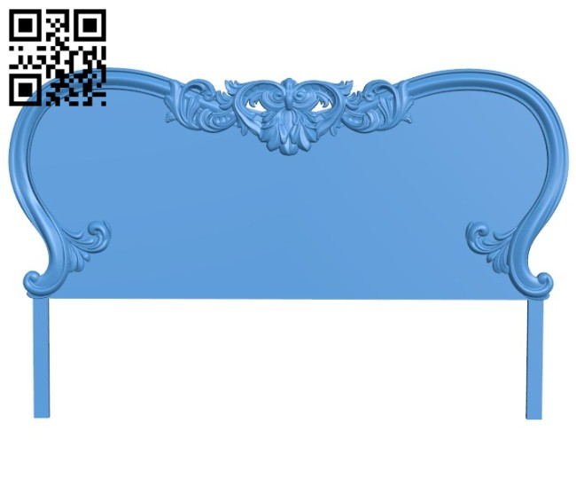 Pattern of the bed frame A004401 download free stl files 3d model for CNC wood carving