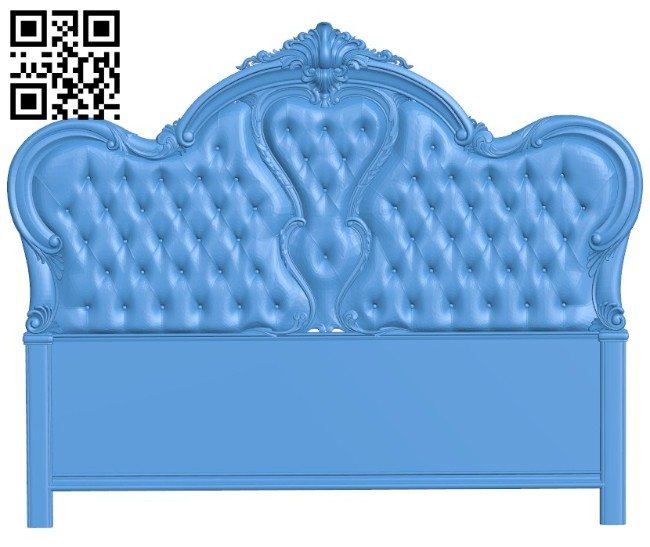 Pattern of the bed frame A004402 download free stl files 3d model for CNC wood carving