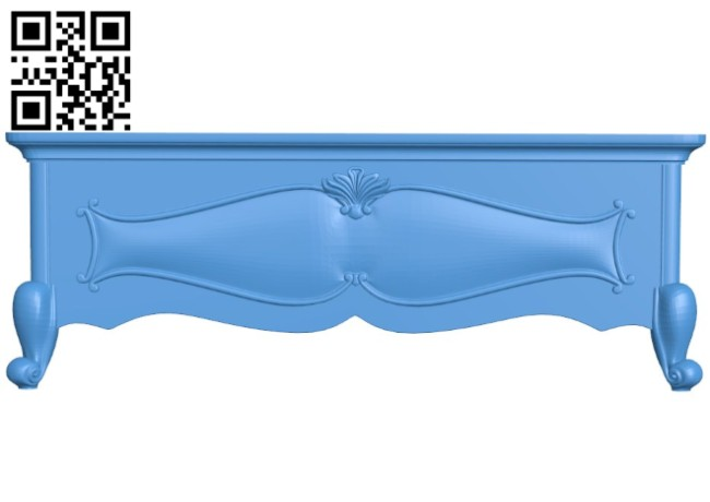 Pattern of the bed frame A004405 download free stl files 3d model for CNC wood carving