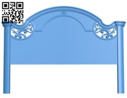 Pattern of the bed frame A004528 download free stl files 3d model for CNC wood carving