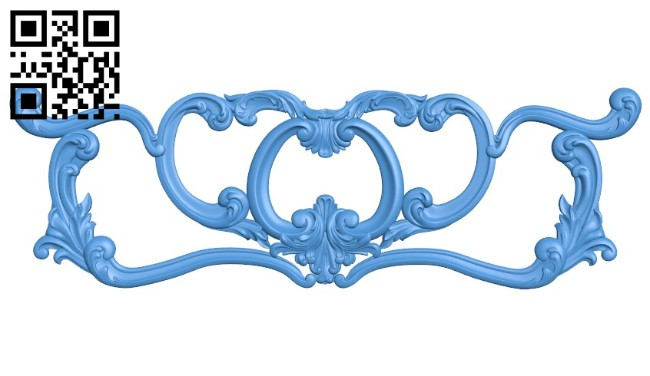 Pattern of the bed frame - end A004520 download free stl files 3d model for CNC wood carving
