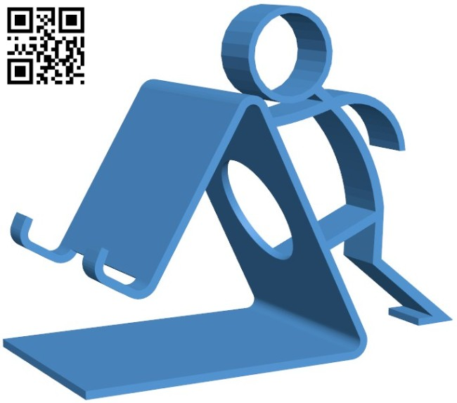 Phone holder B006329 download free stl files 3d model for 3d printer and CNC carving