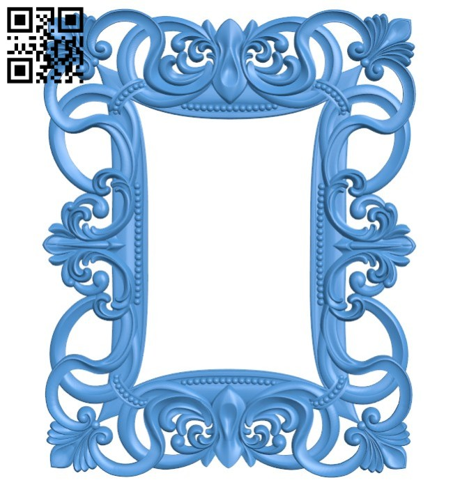 Picture frame or mirror A004406 download free stl files 3d model for CNC wood carving